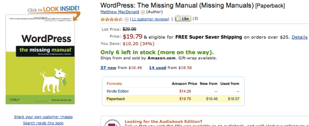 wordpress missing manual