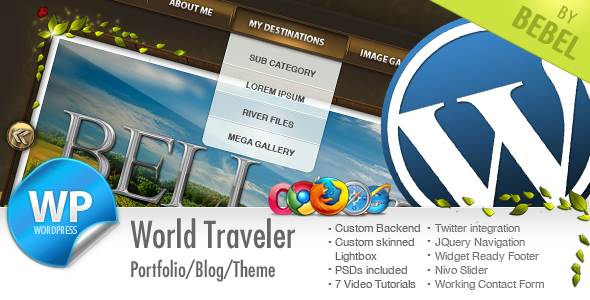 World Traveler travel themes for WordPress