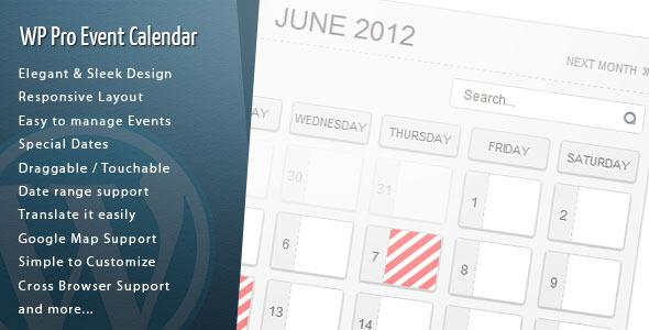 wp pro event calendar