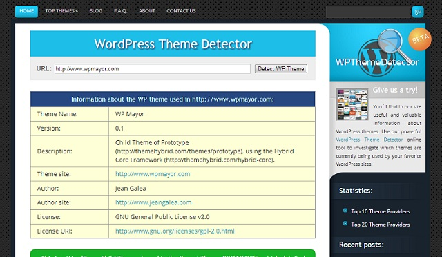 WordPress Theme Detector: Find out the WP theme used in that site