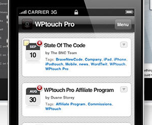 WPTouch Pro Mobile SIte