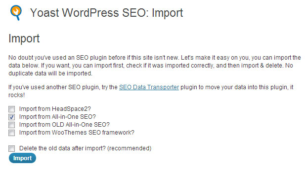 How to Move/Migrate from All in One SEO to WordPress SEO by Yoast Plugin