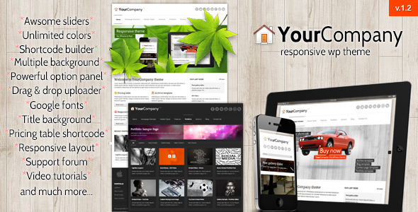 YourCompany corporate responsive theme for WordPress